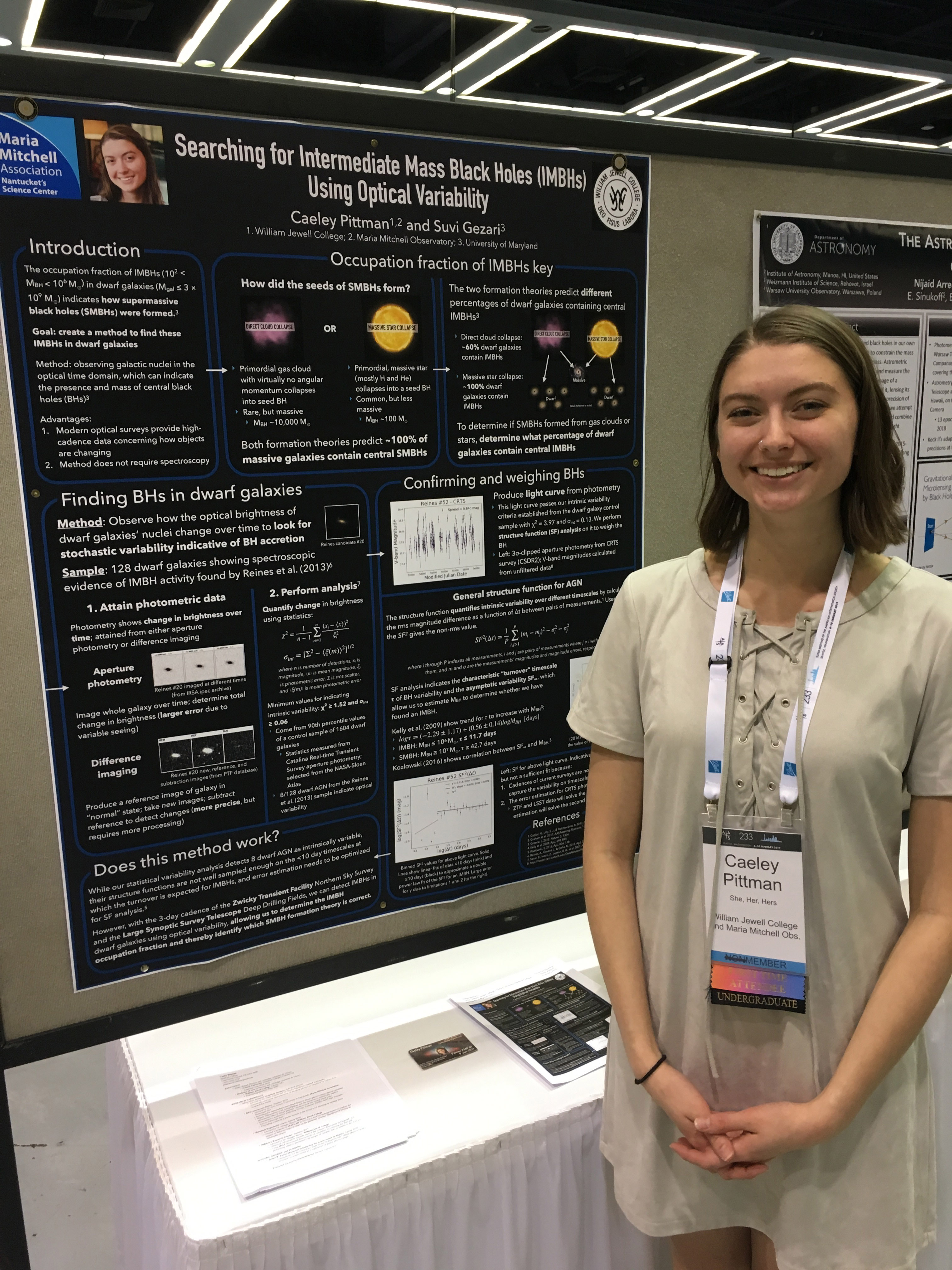 Caeley Pittman and black hole research