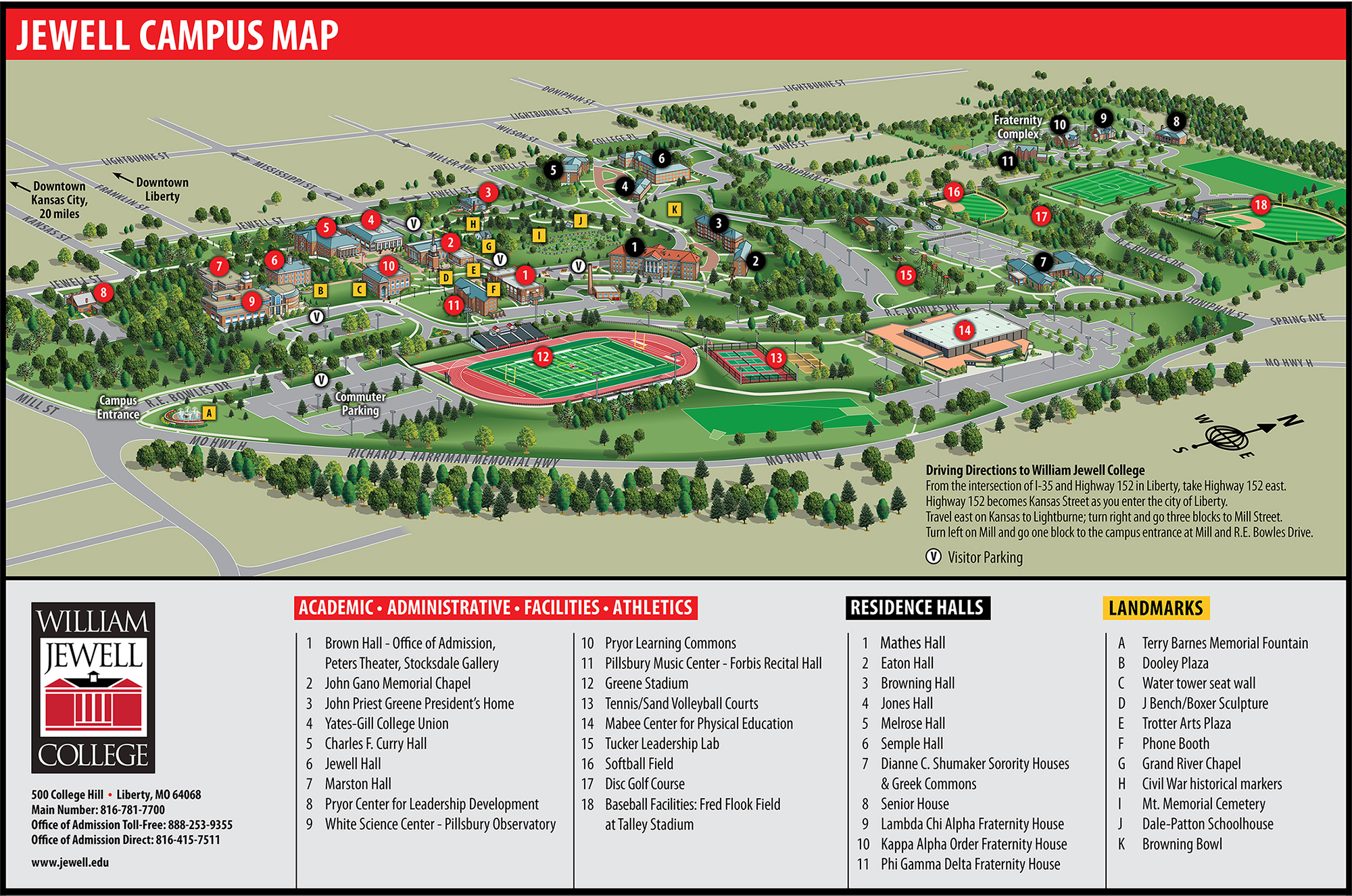 Campus Map | William Jewell College